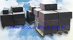 Precast chrome corundum abrasion resistant block for heating furnace
